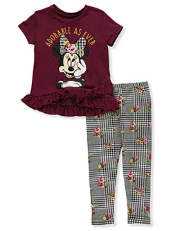 Minnie Mouse Adorable 2-Piece Leggings Set Outfit by Disney in Multi