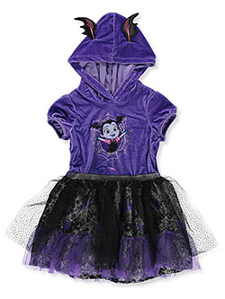 Vampirina Girls' Hooded Tutu Dress by Disney in Black