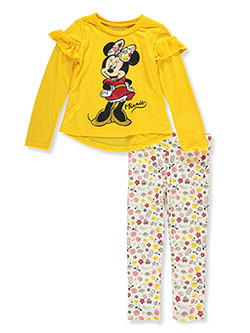 Minnie Mouse Floral 2-Piece Leggings Set Outfit by Disney in White
