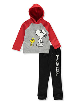 Snoopy Joe Cool 2-Piece Sweatsuit Outfit by Peanuts in Black