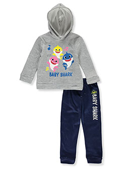 Boys' 2-Piece Sweatsuit Outfit by Pinkfong Baby Shark in Gray