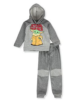 Boys' Baby Yoda 2-Piece Sweatsuit Outfit by Star Wars in Gray