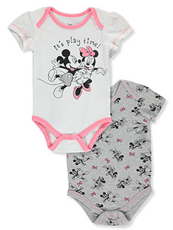 Minnie Mouse Play Time 2-Pack Bodysuits by Disney in Multi