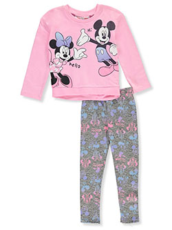 Minnie Mouse Hello 2-Piece Leggings Set Outfit by Disney in Multi