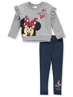 Minnie Mouse Ruffle Shoulder 2-Piece Leggings Set Outfit by Disney in Multi