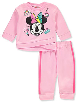 Minnie Mouse Rainbow 2-Piece Sweatsuit Outfit by Disney in Multi, Infants