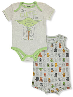 Baby Boys' Too Cute 2-Pack Bodysuits by Star Wars in Multi, Infants