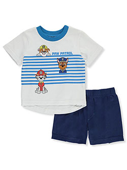 Stripe 2-Piece Shorts Set Outfit by Paw Patrol in Multi