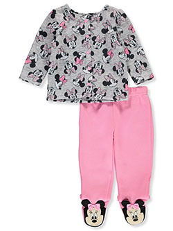Minnie Mouse 2-Piece Footed Pants Set Outfit by Disney in Multi