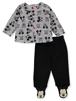 Mickey Mouse 2-Piece Footed Pants Set Outfit by Disney in Multi