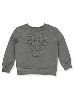 Mickey Mouse Boys' Plush Accent Sweatshirt by Disney in Gray