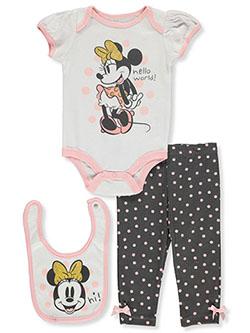 Minnie Mouse Hello World 3-Piece Layette Set by Disney in Multi