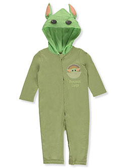Baby Boys' Baby Yoda Hooded Coverall by Star Wars in Multi