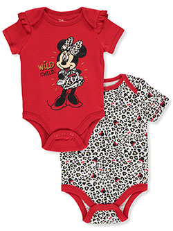 Minnie Mouse Wild Child 2-Pack Bodysuits by Disney in Multi