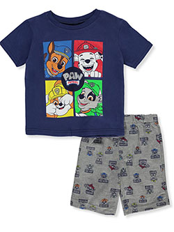Boys' Grid 2-Piece Shorts Set Outfit by Paw Patrol in Multi - Short Set
