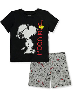 Boys' Joe Cool 2-Piece Shorts Set Outfit by Peanuts in Multi - Short Set