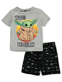 The Child 2-Piece Shorts Set Outfit by Star Wars in Multi - Short Set