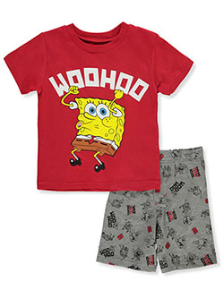 SpongeBob SquarePants Woohoo 2-Piece Shorts Set Outfit by Nickelodeon in Multi - Short Set