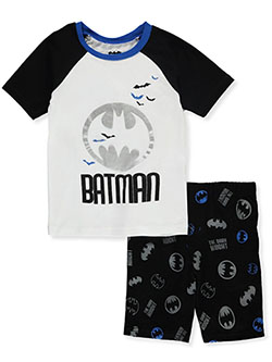 Boys' Raglan 2-Piece Shorts Set Outfit by Batman in Multi - Short Set