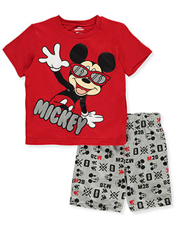 Mickey Mouse Sunglasses 2-Piece Shorts Set Outfit by Disney in Multi - Short Set