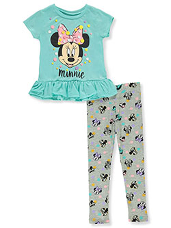 Minnie Mouse Dots 2-Piece Leggings Set Outfit by Disney in Blue