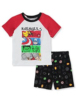 Avengers Raglan 2-Piece Shorts Set Outfit by Marvel in Multi - Short Set