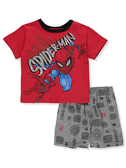 Spider-Man Medley Print 2-Piece Shorts Set Outfit by Marvel in Multi - Short Set