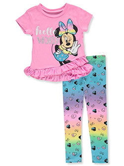 Minnie Mouse Hello World 2-Piece Leggings Set Outfit by Disney in Multi