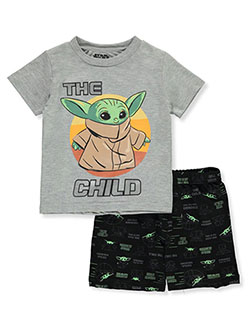 The Mandalorian The Child Baby Yoda 2-Piece Shorts Set Outfit by Star Wars in Multi, Infants