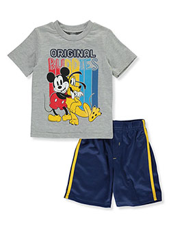 2-Piece Original Buddies Shorts Set Outfit by Disney Mickey Mouse in Multi