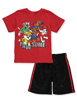 Boys' 2-Piece Pawsome Shorts Set Outfit by Paw Patrol in Multi