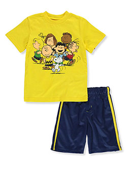 2-Piece The Peanuts Gang Shorts Set Outfit by Peanuts in Multi, Sizes 2T-4T
