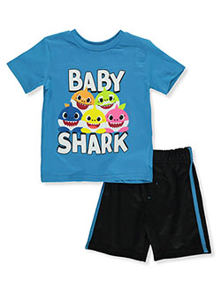 Pinkfong 2-Piece Shorts Set Outfit by Pinkfong Baby Shark in Multi, Boys Fashion