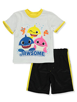 Pinkfong 2-Piece Jawsome Shorts Set Outfit by Pinkfong Baby Shark in Multi, Boys Fashion