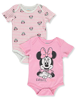 Baby Girls' 2-Pack Bodysuits by Disney Minnie Mouse in Multi - $15.00