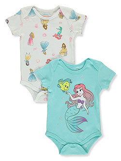Baby Girls' 2-Pack Bodysuits by Disney Princess in Multi - $15.00