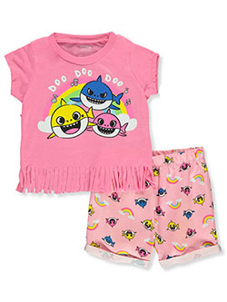 Pinkfong 2-Piece Shorts Set Outfit by Pinkfong Baby Shark in Pink/multi, Infants