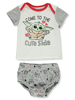 Baby Yoda Shirt With Diaper Cover by Star Wars The Mandalorian in Cream - $9.99