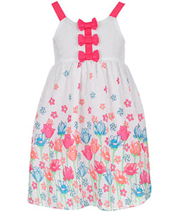"Famous Brand Little Girls' Toddler ""Clip-Spotted Garden"" Dress (Sizes 2T – 4T) - CookiesKids.com"