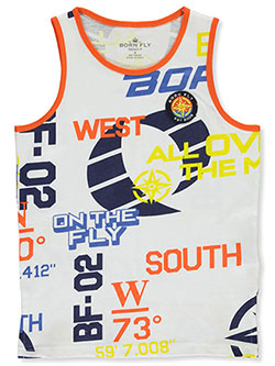 Boys' On the Fly Tank Top by Born Fly in White