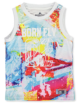 Cool Colors Logo Performance Mesh Tank Top by Born Fly in Multi, Sizes 8-20