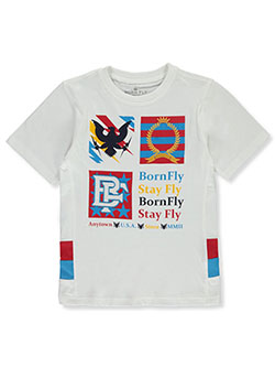 Boys' Anytown Logo T-Shirt by Born Fly in White