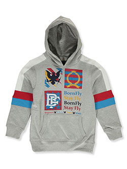 Boys' Elbow Stripe Hoodie by Born Fly in Heather gray, Sizes 8-20