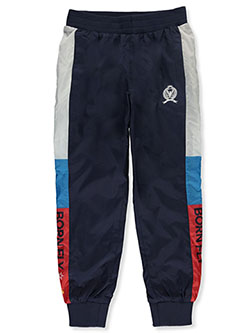 Boys' Pieced Stripe Joggers by Born Fly in Blue