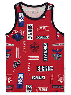 Boys' Eagle Star Tank Top by Born Fly in Red
