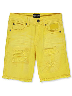 Boys' Denim Shorts by Born Fly in Yellow