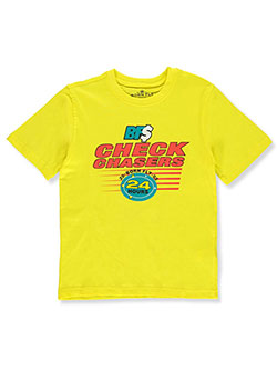 Boys' Check Chasers T-Shirt by Born Fly in Yellow