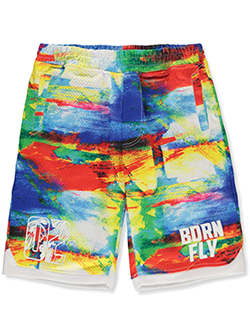 Boys' Color Haze Mesh Performance Shorts by Born Fly in Multi, Sizes 8-20