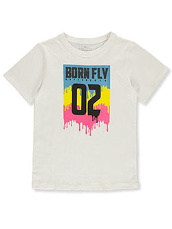 Boys' Color Drip T-Shirt by Born Fly in White, Sizes 8-20