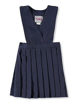 Little Girls' Crisscross Jumper in Navy